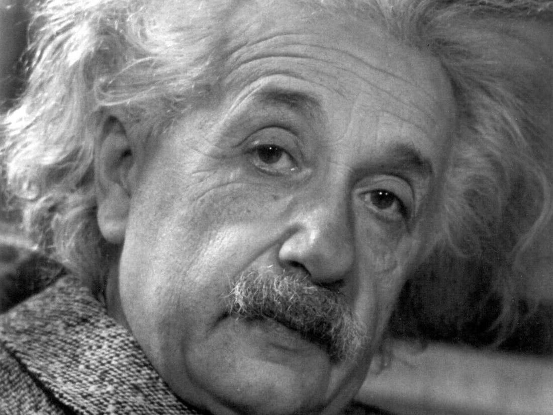 Albert Einstein learning math